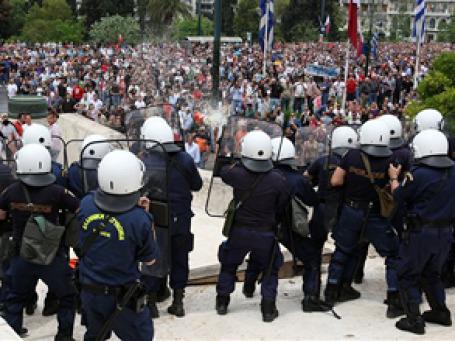 Греческая забастовка переросла в хаос. Фото: AP