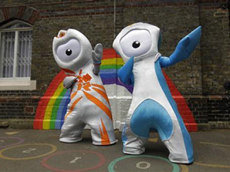 Символы Олимпиады-2012 в Лондоне. Фото: AP