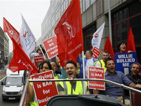 Боргтпроводники British Airways запланировали четыре пятидневные забастовки. Фото: AP