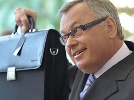 Глава ВТБ Андрей Костин рассчитывает, что к 2013 году стоимость акций возрастет до 15 копеек за штуку, то есть, вдвое выше текущих котировок. Фото: РИА  Новости