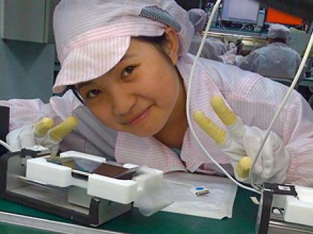 Китайская корпорация Hon Hai Group, выполняющая сборку для Apple, HP и других IT-компаний, устроила день открытых дверей для СМИ. Фото: cultofmac.com