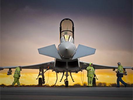 Недавно BAE Systems заключила контракт на обслуживание радарных систем истребителя Typhoon. Фото: BAE Systems