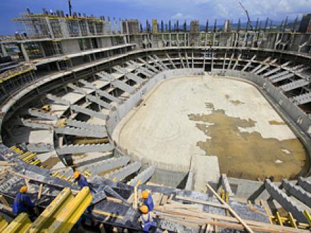 Денег на Олимпийскую стройку выделяется столько, что можно было бы провести несколько Ванкуверов. Фото: РИА  Новости