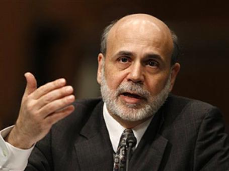 лава ФРС Бен Бернанке в очередном выступлении выразил осторожный оптимизм. Фото: AP