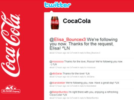 Скриншот сайта twitter.com/CocaCola