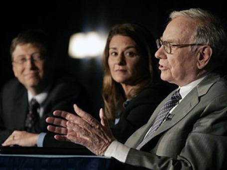 Билл Гейтс, Мелинда Гейтс и Уоррен Баффет. Фото: AP