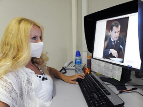 Кондиционеры в офисах далеко не везде справляются с экстремальным загрязнением воздуха .Фото: РИА Новости