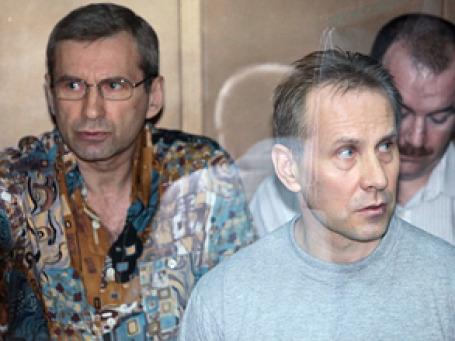 Борис Левин (слева) и Андрей Ермилов (справа) в Московском городском суде. Фото: РИА Новости