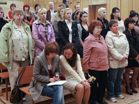 Сторона потерпевших в Ленинском районном суде Перми. Фото: РИА Новости