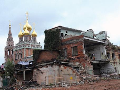 «Архнадзор» предлагает начать с остановки проектов по строительству и реконструкции, которые угрожают историческому облику Москвы. Фото: РИА Новости