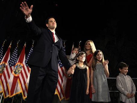 Один из лидеров «чайной партии» Марко Рубио избран в сенат от штата Флорида. Фото: АР