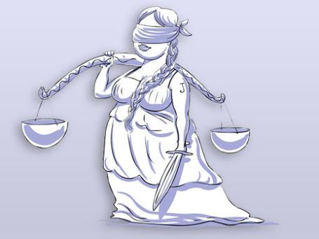 Когда Фемида закрывает глаза, ее служители нарушают закон. Фото: РИА Новости