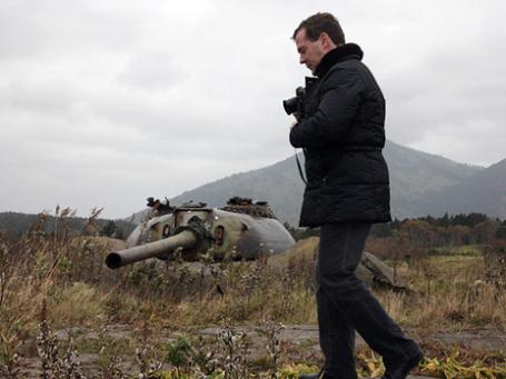 Обострение российско-японских отношений произошло после поездки 1 ноября Дмитрия Медведева на остров Кунашир. Фото: РИА Новости