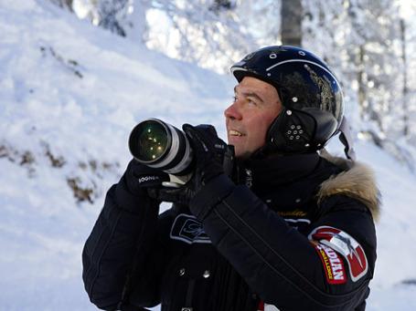 Это фото Дмитрия Медведева сделано на российском курорте. Но в уходящем году президент побывал в роли туриста и в Италии. Фото: РИА Новости