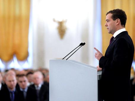 Дмитрий Медведев, по словам его помощника, хочет участвовать в выборах 2012 года. Фото: РИА Новости