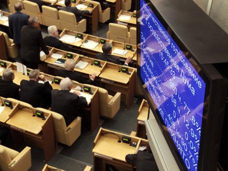 В пятницу правительство отчиталось перед  депутатами о проделанной работе. Фото: РИА Новости