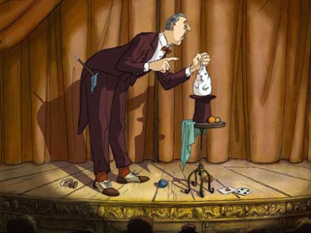 Кадр из мультфильма «Иллюзионист»