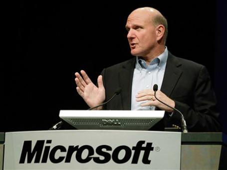 Стив Балмер, исполнительный директор компании Microsoft. Фото: AP