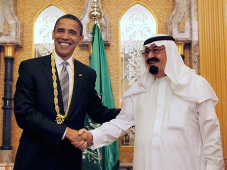 Король Саудовской Аравии Абдалла потратил на подарки Обаме и его семье 190 тысяч долларов. Фото: AP
