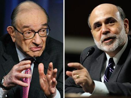 Комиссия указывает на промахи двух последних глав ФРС: Алана Гринспена и его преемника Бена Бернанке. Фото: AP
