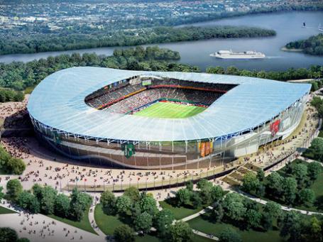 Макет стадиона в Казани, который должен быть построен к ЧМ-2018. Фото: РИА Новости