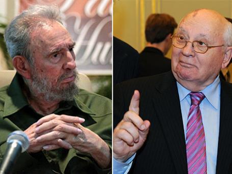 Они почти ровесники: в прошлом каждый был символом тектонических перемен, но Кастро ныне стал анахронизмом, а Горбачев неожиданно актуален.  Фото: ИТАР-ТАСС (2)