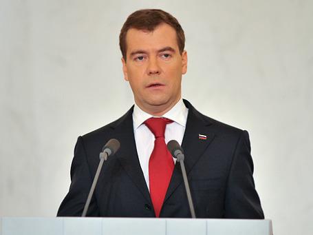Президент РФ Дмитрий Медведев. Фото: Митя Алешковский/BFM.ru