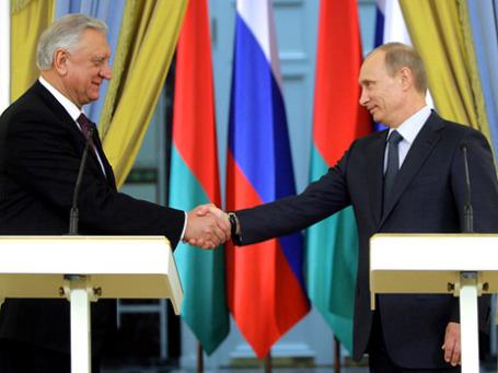 Михаил Мясникович и Владимир Путин. Фото: РИА Новости