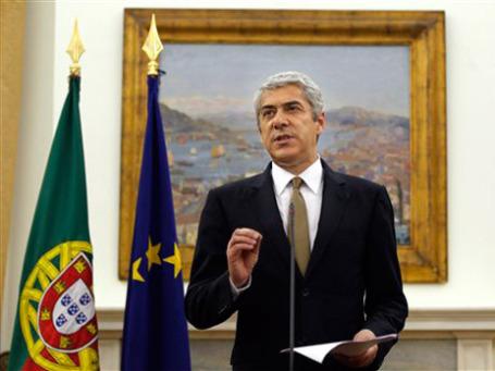 Премьер-министр Португалии Жозе Сократеш заявил, что покинет пост, если новые меры бюджетной экономии не будут приняты. Фото: AP