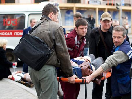 После теракта на станции  «Октябрьская» минского метро. Фото: РИА Новости