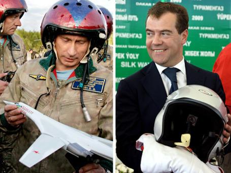 Среди мужских подарков обоим руководителям особенно часто встречаются летные и иные шлемы, а также колющие и режущие предметы. Фото: ИТАР-ТАСС, РИА Новости