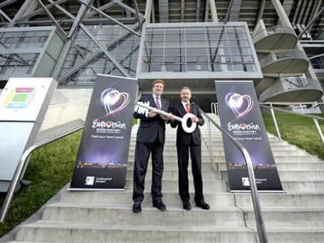 Чтобы открыть «Евровидение», немцы закрыли «Фортуну». Футбольную команду выселили из ее домашнего стадиона в Дюссельдорфе. Фото: AP