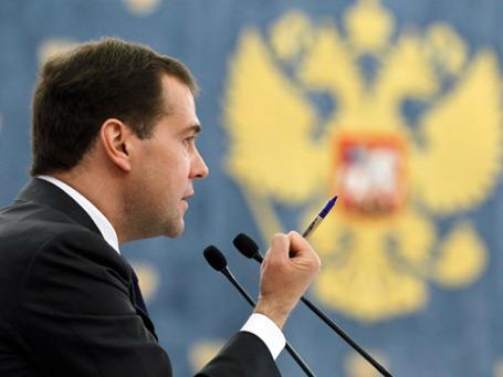 Дмитрий Медведев подписал закон, ужесточающий наказание за коррупцию. Фото: РИА Новости