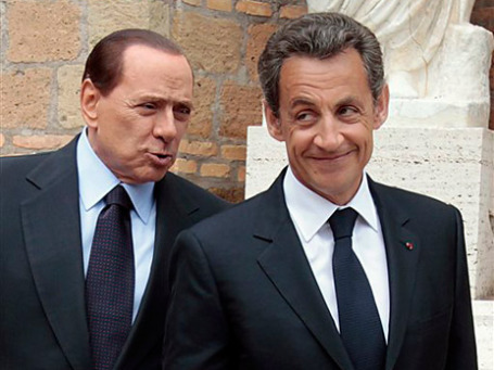 Берлускони и Саркози испугались понаехавших. Фото: AP