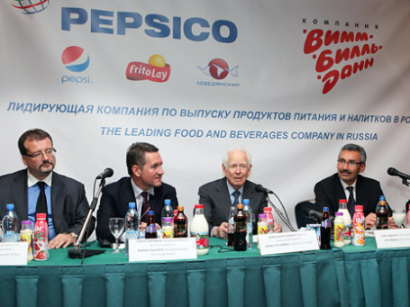Пресс-конференция, посвященная покупке компанией PepsiCo акций