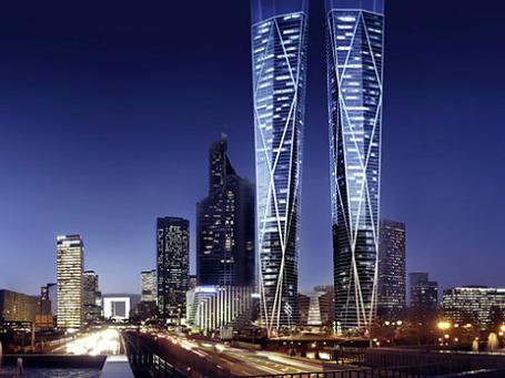 Высота «русских небоскребов» лишь на метр уступит Эйфелевой башне. Фото: dezeen.com
