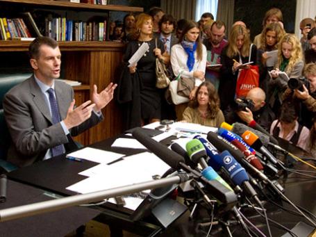 Михаил Прохоров рассказал журналистам, кто мешает ему строить «Правое дело». Фото: РИА Новости