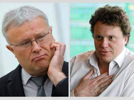 Александр Лебедев против Сергея Полонского. Фото: РИА Новости