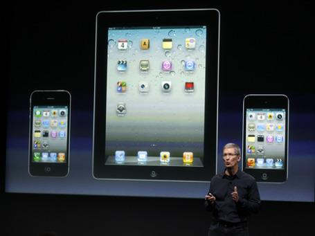 Первая презентация iPhone без Стива Джобса. Фото: AP