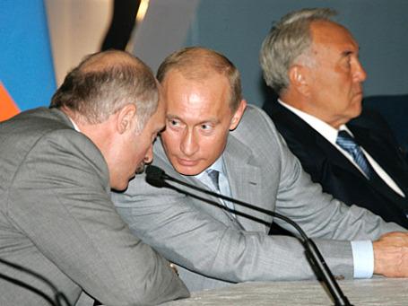 Евразийская тройка: Лукашенко, Путин, Назарбаев. Фото: РИА Новости