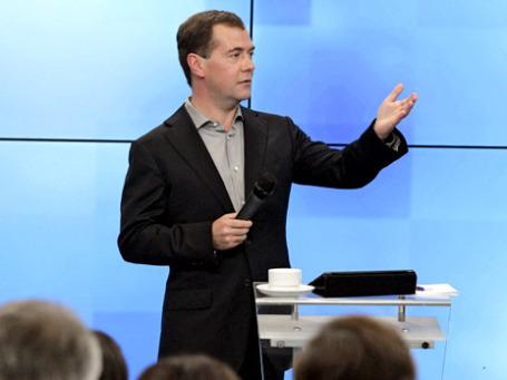 Дмитрий Медведев: «Я без лишней скромности скажу, что не намерен недооценивать свой потенциал, который еще до конца не реализован. Он, в общем, вполне достаточный». Фото: РИА Новости