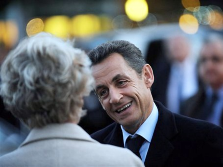 Прибыть на саммит во Франкфурт Николя Саркози не помешали даже роды жены. Фото: AP