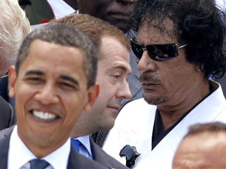 Еще недавно Муаммар Каддафи был вполне рукопожатным мировым лидером. Фото: AP