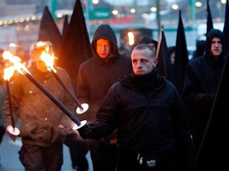 Демонстрация правых экстремистов в феврале 2011 года в Дрездене. Фото: AP