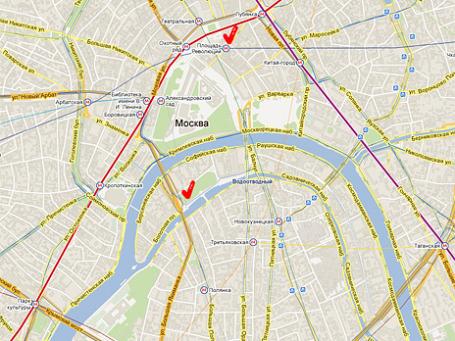 Фото экрана сайта maps.google.ru