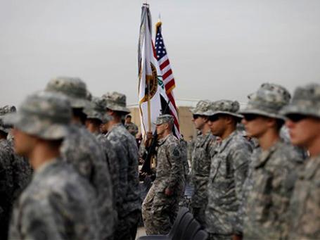 Церемония  в Багдаде по случаю полного вывода из Ирака войск США и окончания почти девятилетней военной кампании. Фото: AP