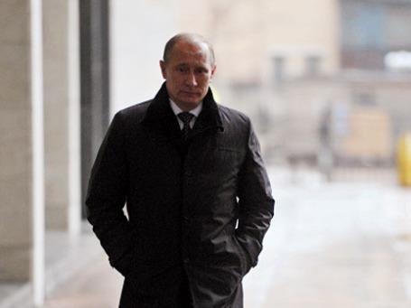 На вопрос о том, кто его главный соперник на президентских выборах, Владимир Путин ответил: «Я сам, наверное».  Фото: РИА Новости