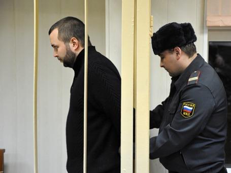 Обвиняемый Максим Каганский в зале Пресненского суда. Фото: Григорий Собченко/BFM.ru