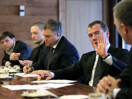 По оценке оппозиционеров, Дмитрий Медведев был готов соглашаться только с 15% их предложений.  Фото: ИТАР-ТАСС