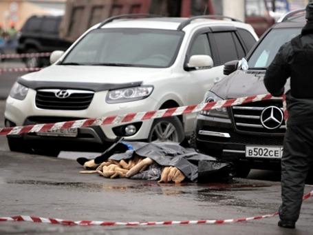 На месте убийства Ирины Зироян на Варшавском шоссе. Фото: РИА Новости